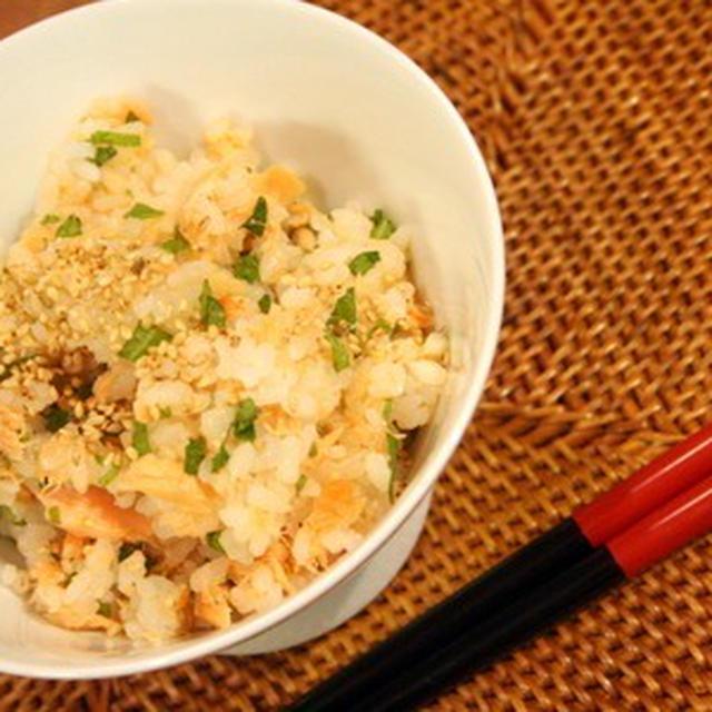 鮭と生姜のさっぱり混ぜ寿司 & 娘作ドライカレー