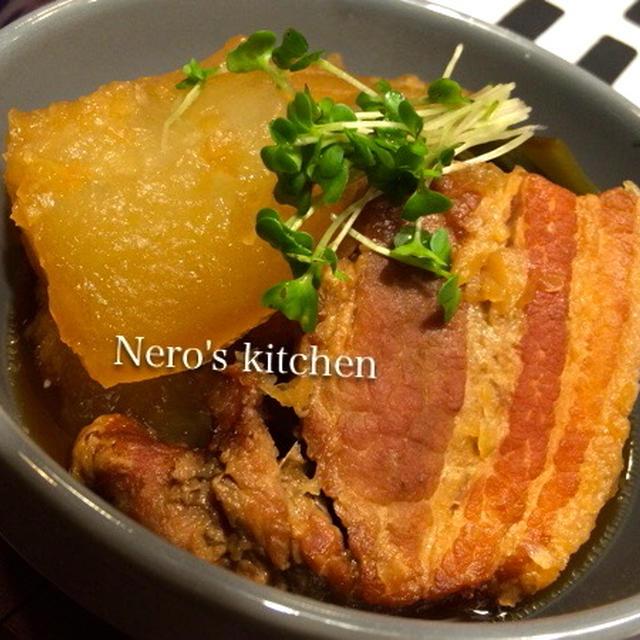 豚の角煮・冬瓜入り〜ストウブ鍋でコトコト♪