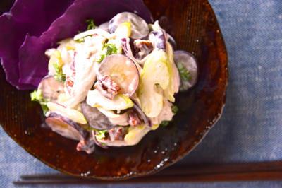 #556 チキンとセロリと葡萄のサラダ