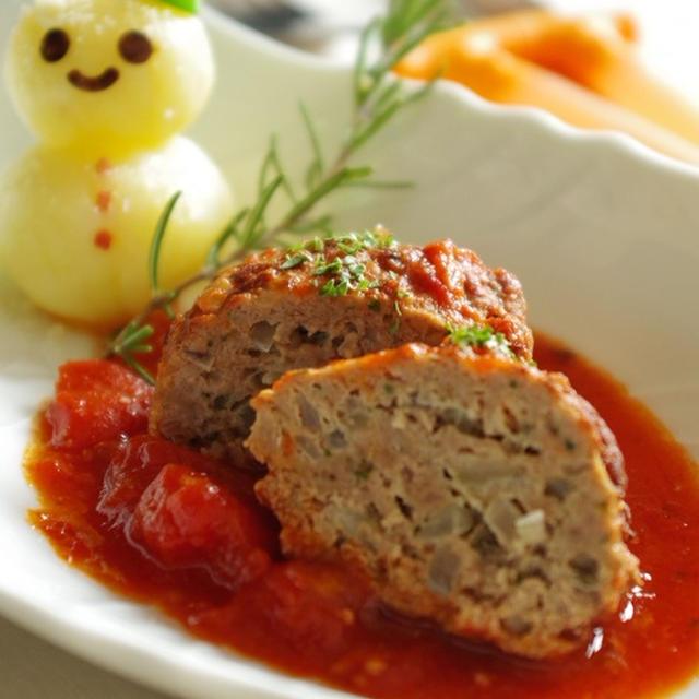 レシピブログ!GABANローズマリー<フリーズドライ>を使ったハンバーグ煮込みトマトソース