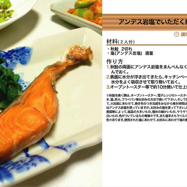 アンデス岩塩でいただく焼き秋鮭 焼き物料理 -Recipe No.1151-
