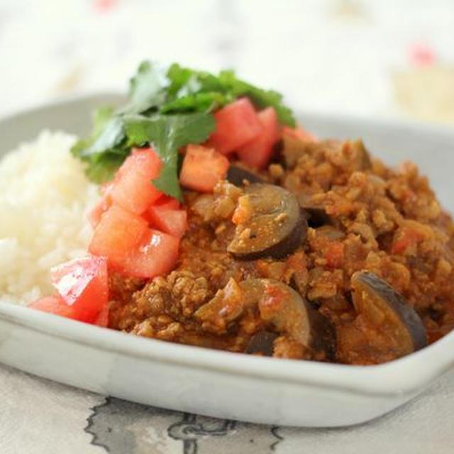 ルウがなくても簡単*なすとトマトの肉味噌カレー