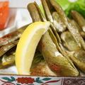 ■菜園料理【採り立て空豆のレモン塩バター焼き】