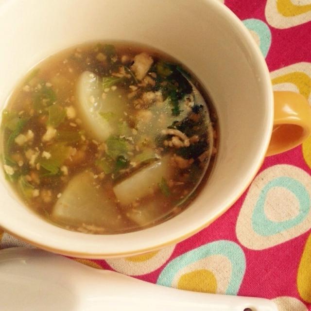 風邪対策に!生姜と大根とセロリのあったかスープ