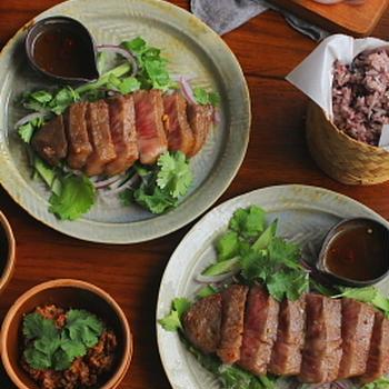 タイ風 牛肉のステーキ(ヤムヌア)