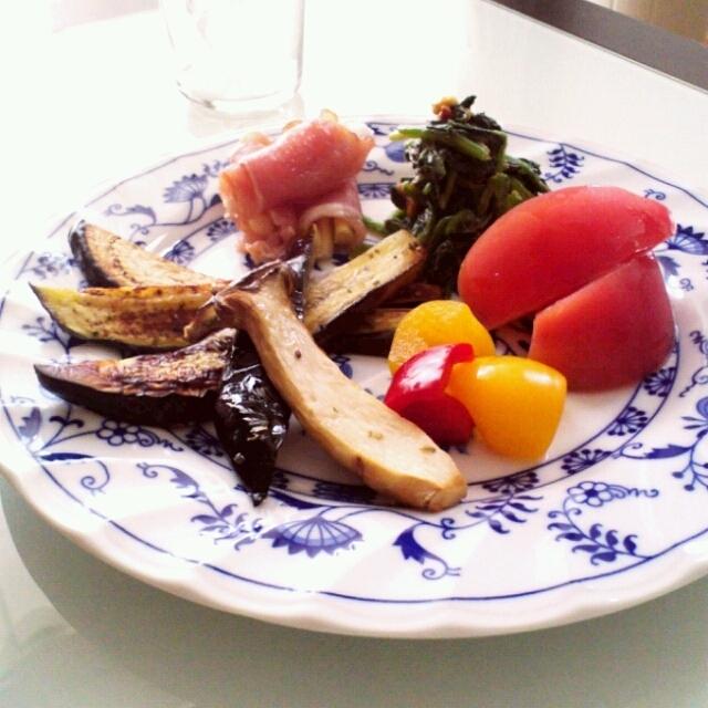 茄子とエリンギのソテー イタリアンハーブミックス