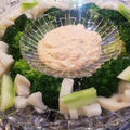 ブロッコリーと根菜のタラコソイディップ