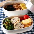 お弁当に♪ 鶏ささみの梅しそチーズロール&ささ身ときゅうりのナムル風。 by musashiさん