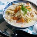 「ごちそうスープ」でユル低糖質【長崎ちゃんぽん風こんにゃくスープ】