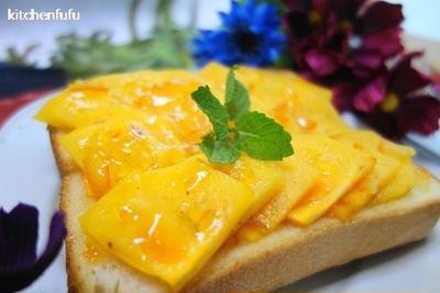 柿トースト☆マーマレードの組み合わせが美味しい
