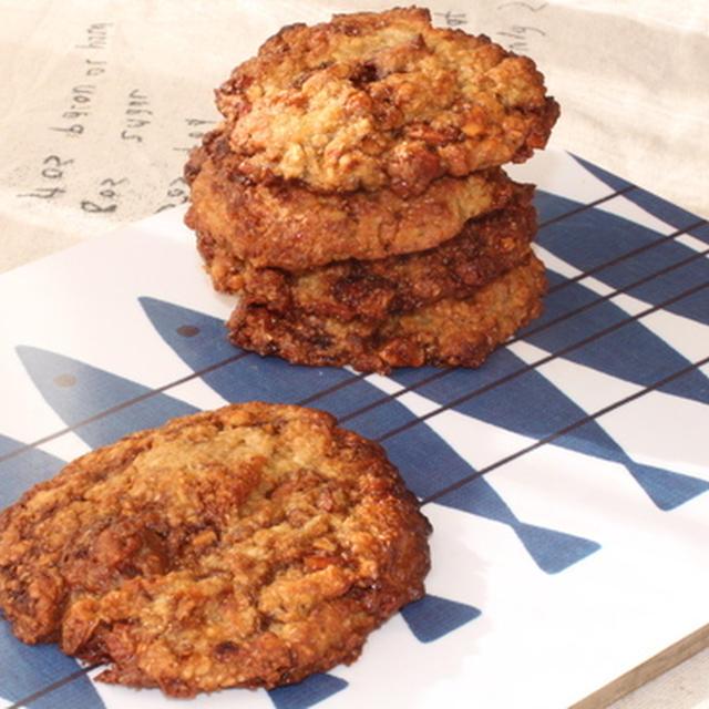 アメリカンマクロビスタイル☆プラリネとオートミールのさっくりクッキー