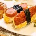 シャウエッセンのお肉で作ったあらびきミートローフdeスパムむすび風 レシピ