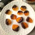 金柑の甘煮で、チョコがけの、金柑のオランジェット