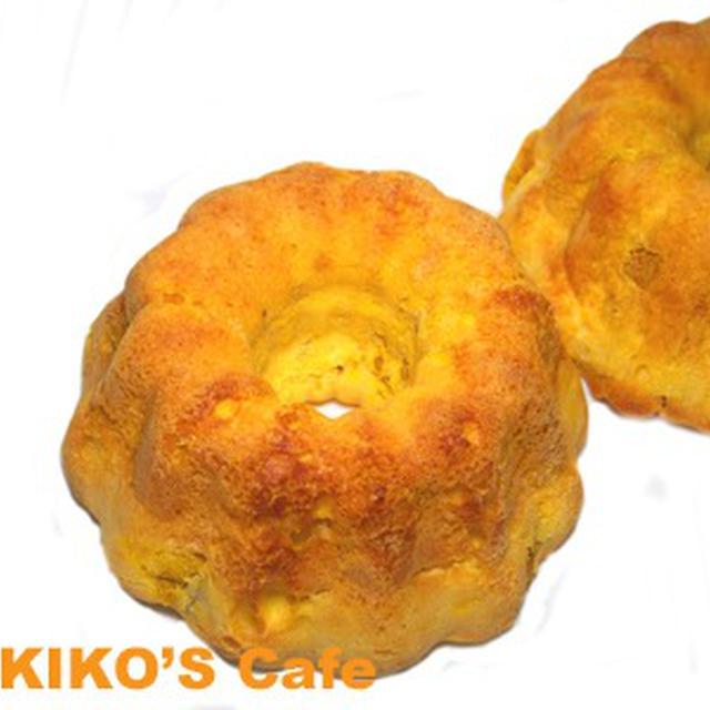ハロウィン犬用ケーキレシピ【角切りかぼちゃのミニクグロフケーキ】