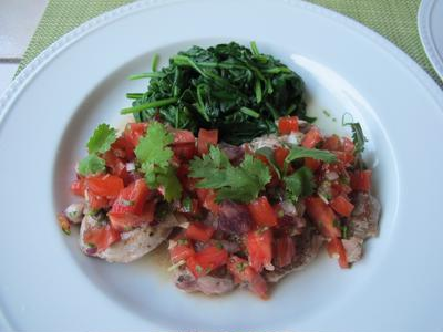 豚フィレ肉のソテーとラヴィゴットソース