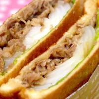 ホットサンドメーカーお手軽レシピ!「玉ねぎステーキと焼肉のホットサンド」