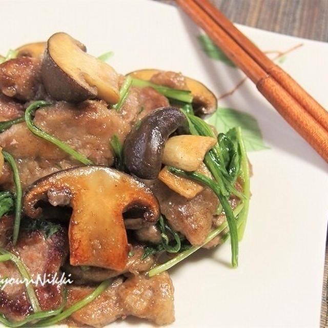 豚ヒレ肉ときのこ 禁断の黒胡椒炒め! 「ハウス禁断の黒胡椒」を使って♪   &ブロッコリーと平茸の黒胡椒バター炒め
