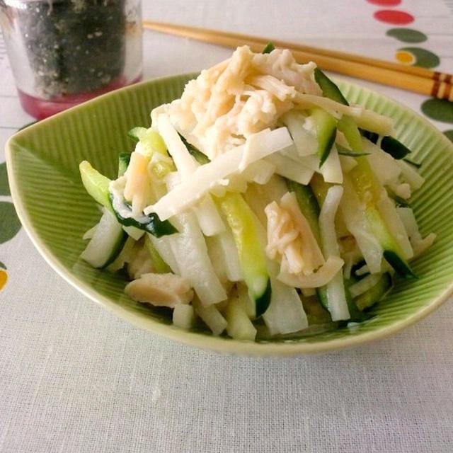 大根とホタテ缶のサラダ