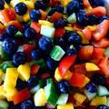ブルーベリーとマンゴーのキラキラサラダのレシピ