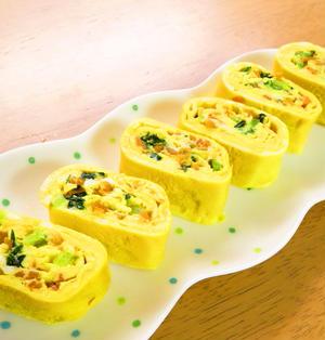 人参と小松菜の出汁巻き卵☆お弁当にも♪
