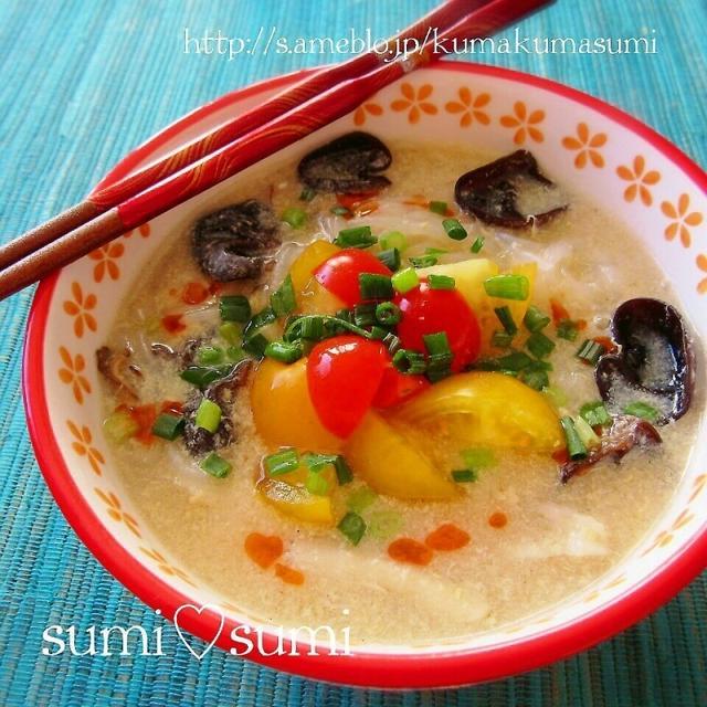 美味美活♥白滝のサンラータン麺(酸辣湯)