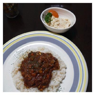 今日の夕ご飯☆ドライカレー