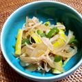 破竹・エノキ・玉ねぎの炒め煮