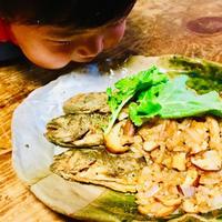 岩魚のムニエル 玉ねぎと椎茸のバター醤油