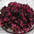 夏野菜のしば漬け風<梅酢と赤じそで彩り鮮やか>