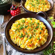 ♡レンジ&トースターde超簡単♡マッシュポテトのマヨコーン焼き♡【時短*節約*お弁当】