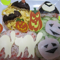 ハロウィン 鮭の飾り寿司