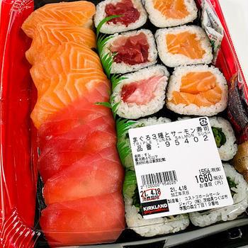 コストコでお買い物*コストコへ行くとついつい食べたくなるお寿司♪
