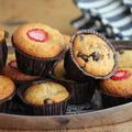 ホットケーキミックスで作る苺とバナナのひとくちマフィン2種類