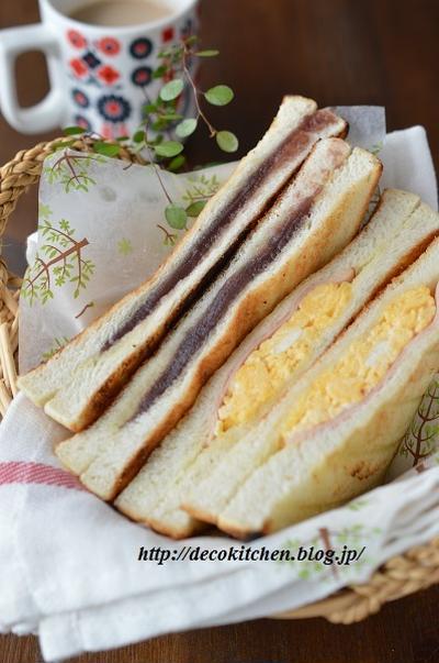耳までサクサク!魚焼きグリルで1分「ホットあんサンド&ホットハム卵サンド」~姉さんの大好物です