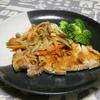 厚めの豚肉で生姜焼き