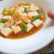豆腐と海老のオイスターソース煮♪