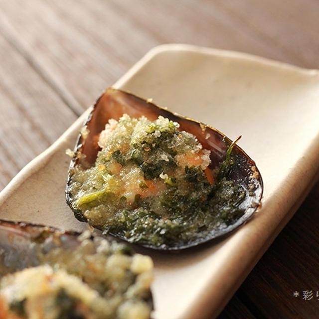 ムール貝のエスカルゴバター焼き