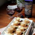 ワインと楽しむ、うずら卵でスコッチエッグのクロスティーニ。