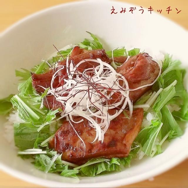 ○炙り角煮丼 (角煮リメイクレシピ)