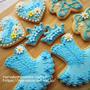 バレエのアイシングクッキー * ブルーのトウシューズ