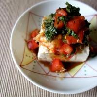 トマトキムチ豆腐