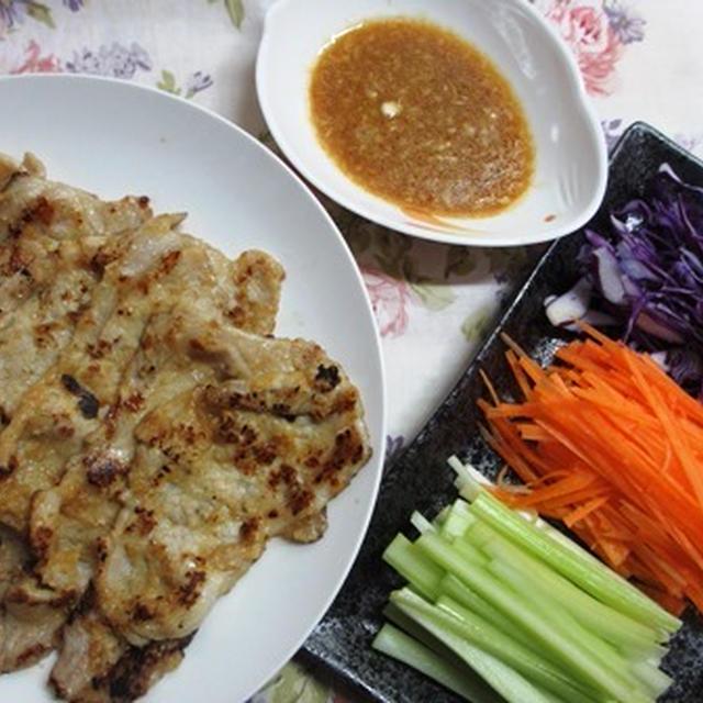 鶏料理は中休み♪ 豚肉の野菜巻き