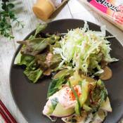 香味マヨ鶏とさつまいものフライパン蒸し