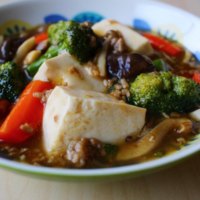 温豆腐のごろっと野菜あんかけ