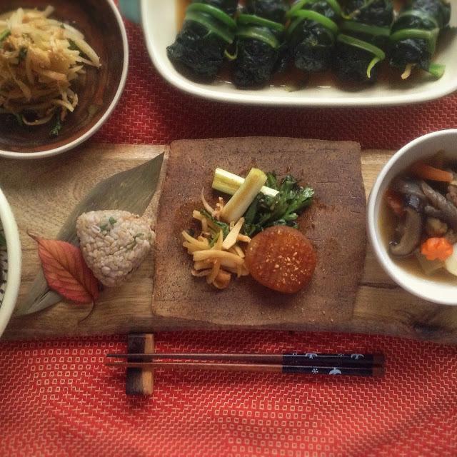 大根ステーキと旬のお野菜小皿