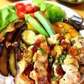 鶏もも肉と夏野菜のアヒージョ