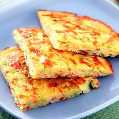 高麗菜培根煎蛋餅│キャベツとベーコンの中華風オムレツ