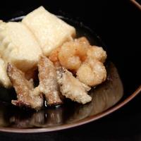 宮崎産乾しいたけと豆腐の揚げ出し