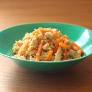 人参とちくわの炒り豆腐