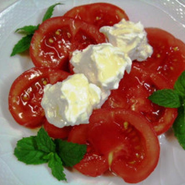 トマトとヨーグルトのスイーツ